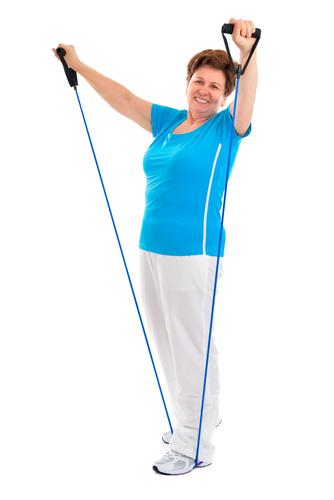 Resistant band exercising for seniors